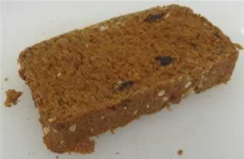 Carrot - Raisin bread made with juicer pulp