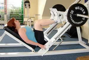 Load-Bearing Leg Press Exercise - fights osteoporosis