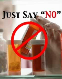 Just say NO to Prescription Medication.